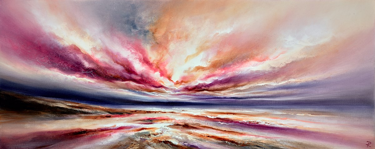 Glimmering Beauty II by chris and steve rocks -  sized 39x16 inches. Available from Whitewall Galleries